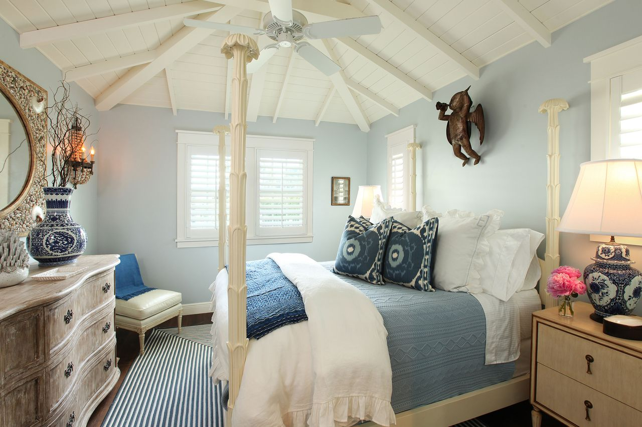 A walk in the countryside coastal cottage tour Beach house master bedroom ideas